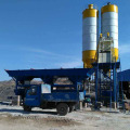 Small stationary 75m3 concrete batching plant machine