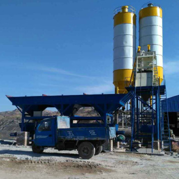 HZS35 Mini Mix Concrete Batching Plant in Oman