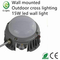 Wall mounted outdoor cross 15W led wall light