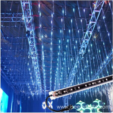 2meters DMX programmable RGB 3D Tube disco