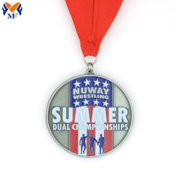 Metal summer race award medal