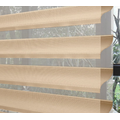 Double Layer Fabric Sheer Roller Shangri-la Curtain Blind