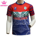 Suitable Customizable Red Men  Rugby Shirts