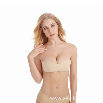 Sexy Girl self-adhesive invisible one piece silicone bra