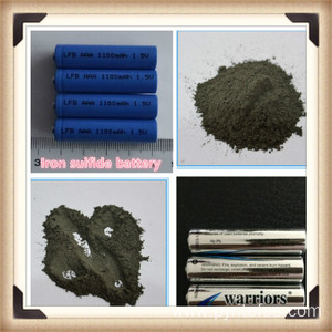 High capacity lithium iron sulfide battery
