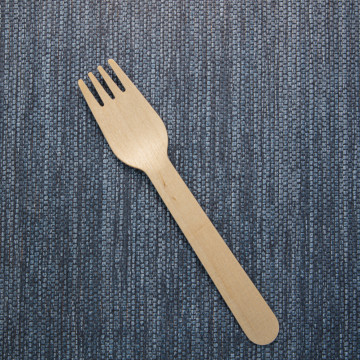 Disposable flatware set wooden fork tableware