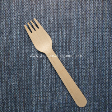 Birch wood fork Cutlery