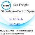 Shenzhen Port LCL Consolidation To Port of Spain