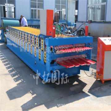 double layer glazed tile roll forming machinery