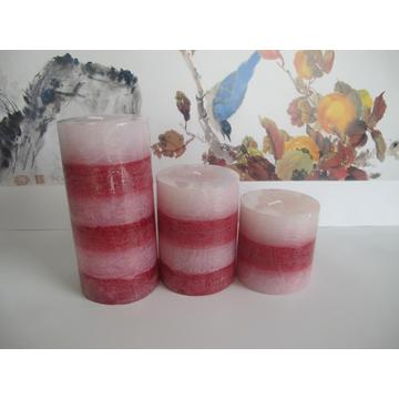Long Burning Beautiful Layered Pillar Candle