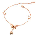 Plus size butterfly ankle bracelet jewelry