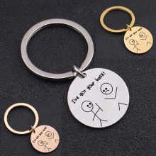 """Stick Figure """"I've Got Your Back""""Key Chain To Colleagues Best Friends Birthday Friendship Souvenir Keyring Charm Jewelry"""