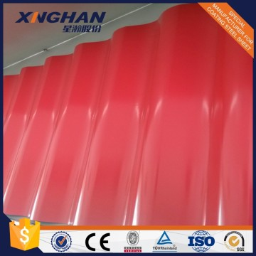 JIS G3302 Pre-painted Trapezoid Roofing Sheets Color Steel