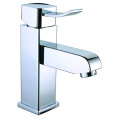 Single lever brass vanity basin mixer faucet