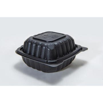"6"" Black Disposable PP Plastic Food Container"