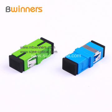 Green SC PC Simplex Duplex Fiber Optic Adapter