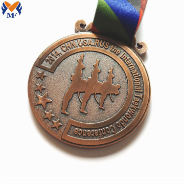 Custom sports diecast copper medals online