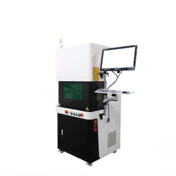 High precision cnc enclosed 30W Metal QR code laser label machine