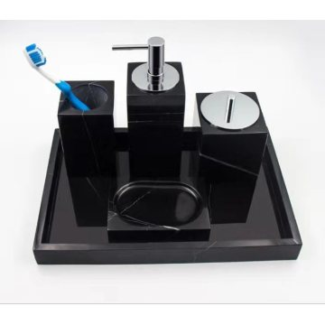 black marble toothbrush holder