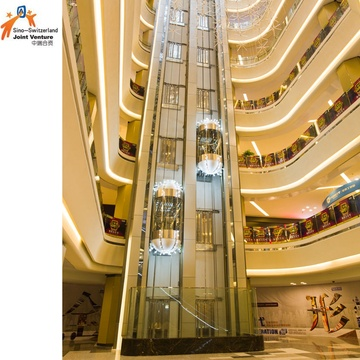 Hotel Glass Modern Design Elevator Lift