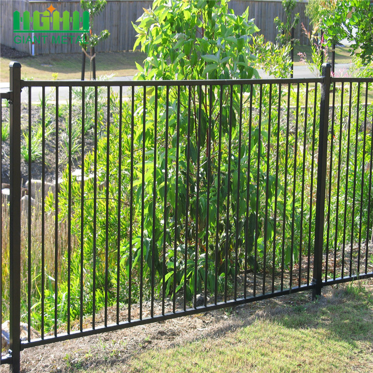 decorative wrought iron fence panel for