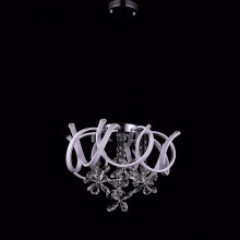 white modern crystal chandelier acrylic light