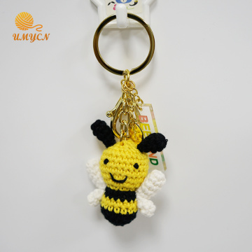 Lovely Crochet Bee Key Chain Accessories