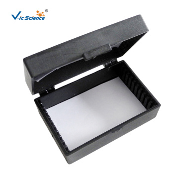 Black Microscope Slide Storage Box