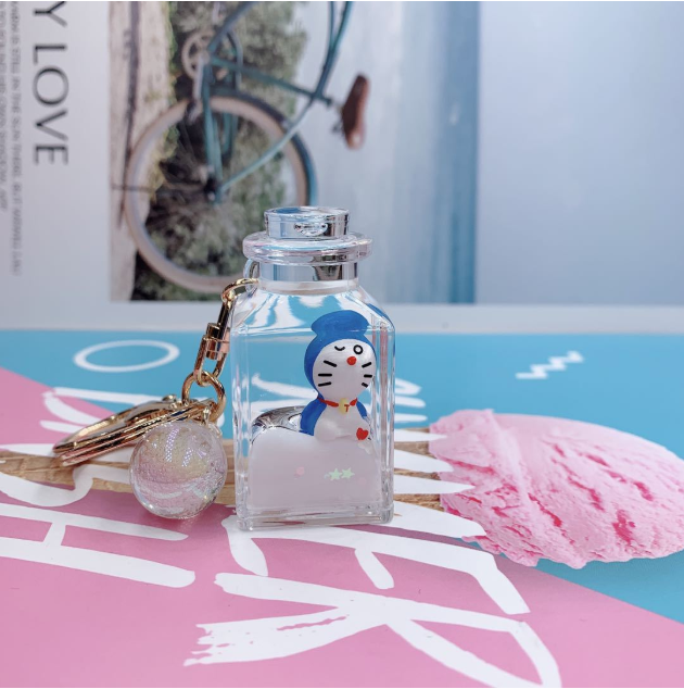 Doraemon Liquid Key Chain