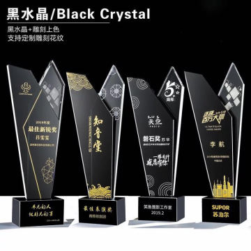 new design crystal  trophy