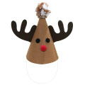 Christmas reindeer pattern party hat