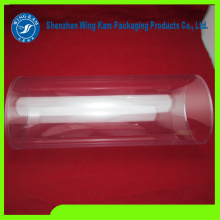 a lot of sweet candies packed by Transparent plastic cylinder packing