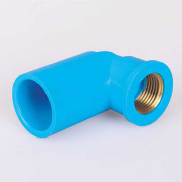 UPVC Pressure Female Elbow90° Brass Insert Blue