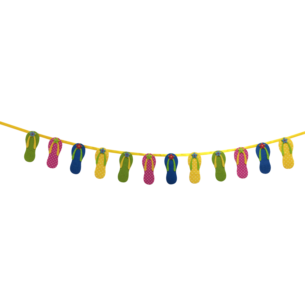 Hawaii Themed Birthday Bunting Banner