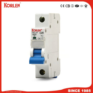 DZ47 TYPE circuit breaker silver contact 6KA capacity