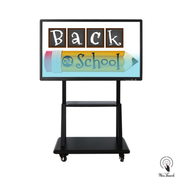 55 Inches UHD Display Whiteboard with mobile stand