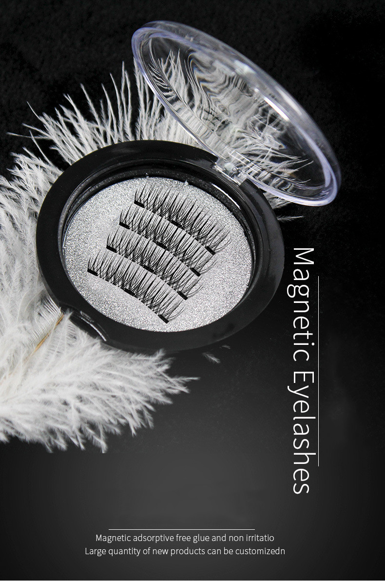 European and American three magnets sharpen magnetic eyelashes