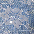 Off White Floral Chantilly Lace Bridal Dress Fabric