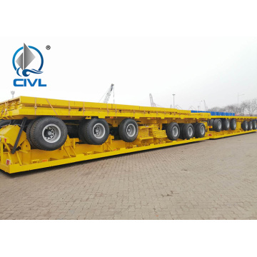 semi trailer for container transport