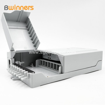White 16 Port Outdoor Fiber Optic Termination Box Ip54