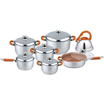 Cooper coating 13pcs cookware set