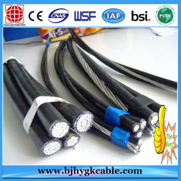 Rated Voltage Aerial Insulated Cable Steel Core