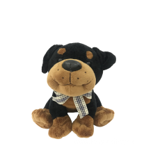 Plush Dog Black And Brown