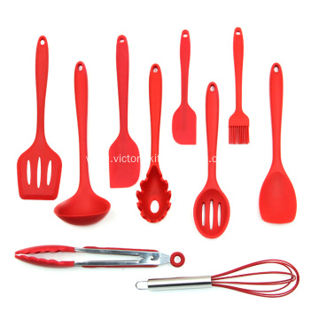 10pcs Colorful Silicone Kitchen Utensils