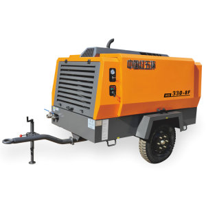 HG330L-8 vertical diesel 8bar screw air compressor