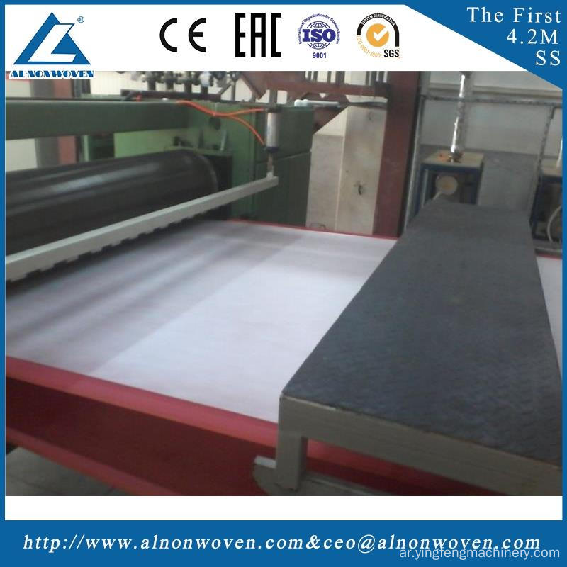 Full automatic AL-1600 S 1600mm non woven fabrics making machinery with ISO9001 certificate