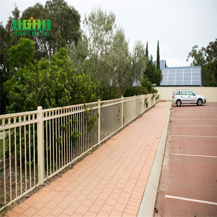 Wrought iron metal galvanized steel fence