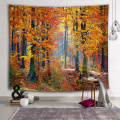 Yellow Leaves Forest Wall Tapestry Natural Landscape Tapestry Wall Hanging for Livingroom Bedroom Dorm Home Decor