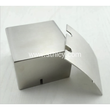 Square stainless steel ashtray