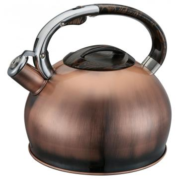 Copper Whistling Kettle With Wide Mouth